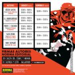 XIII Salón del Cómic y Manga de Castilla y León. Horarios autores NORMA Editorial